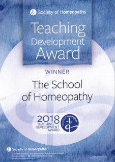 Award winning courses At the School of Homeopathy
