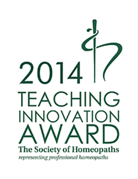 Society of Homeopaths - Teaching Awards 2014