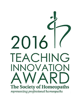 Society of Homeopaths - Teaching Awards 2016